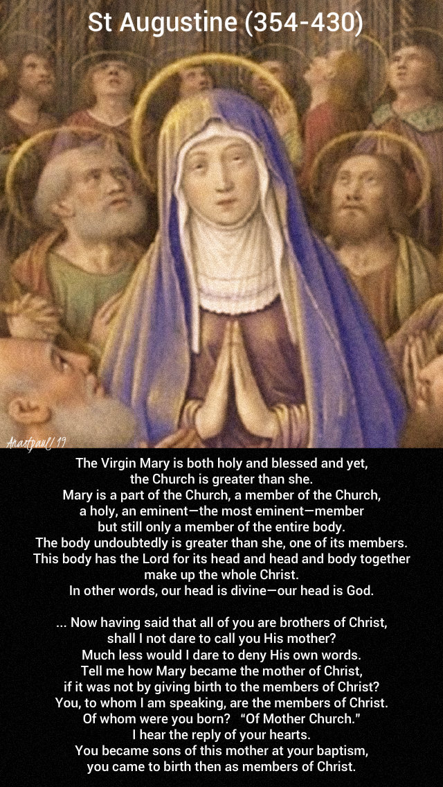 the virgin mary is holy and blessed and yet the church - st augustine - 21 nov 2019 presentation of mary.jpg