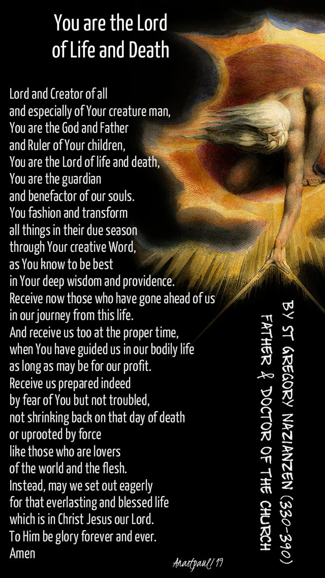 you are the lord of life and death - prayer for the holy souls - st gregory of naziazen 9 nov 2019.jpg