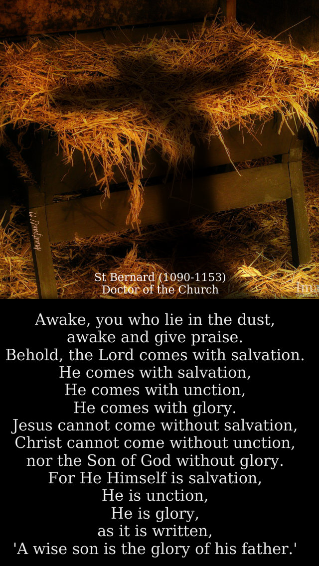 awake you who lie in the dust, ....he who is to come - st bernard - gaudete sunday 15 dec 2019.jpg