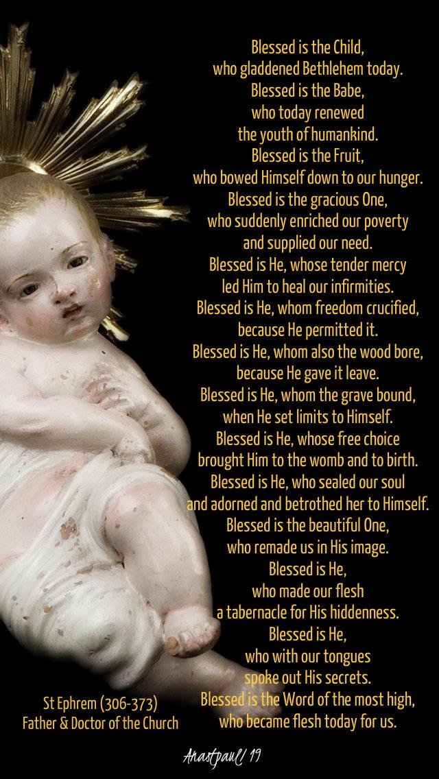 blessed is the child - 25 dec 2019 st ephrem.jpg