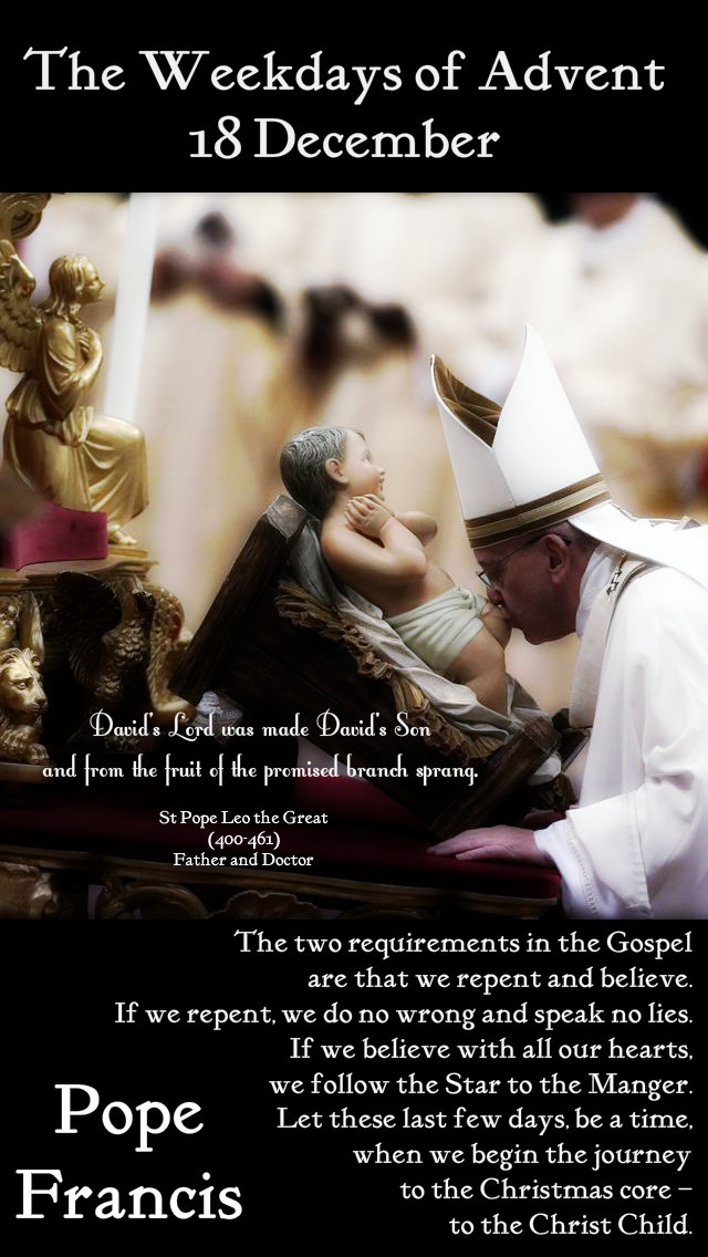 david's lord was made david's son - the two requirements in the gospel - pope francis 18 dec 2019.jpg