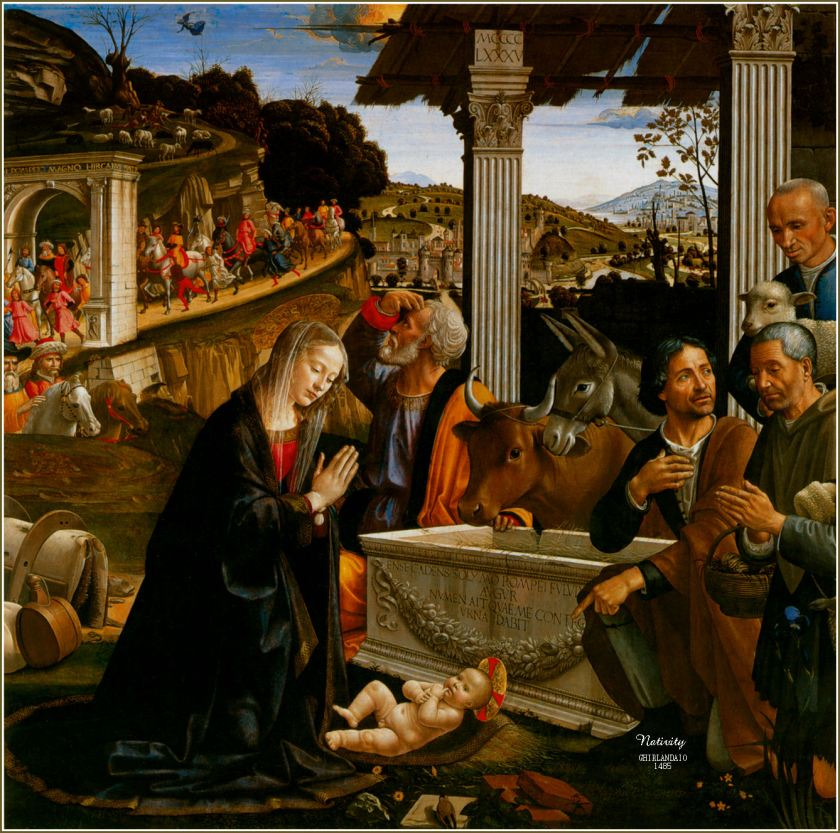 ghirlandaio - nativity of the lord, bethlehem christmas shepherds baby jesus.jpg