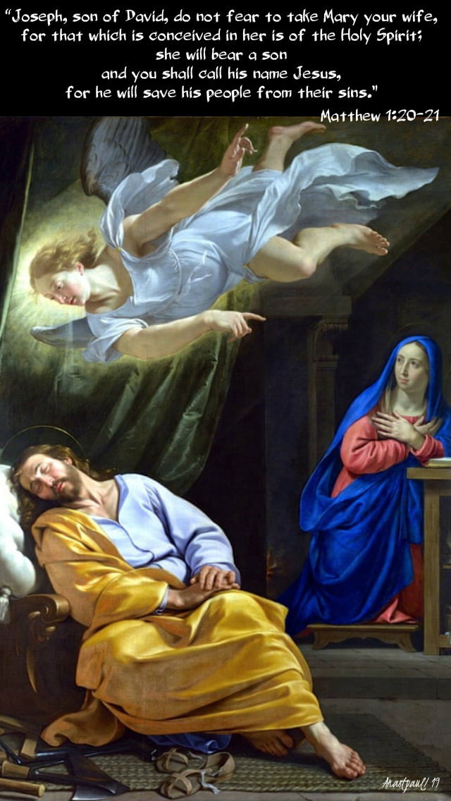 matthew 1 20 - 21 joseph son of david do not fear to take mary 22 dec 2019.jpg