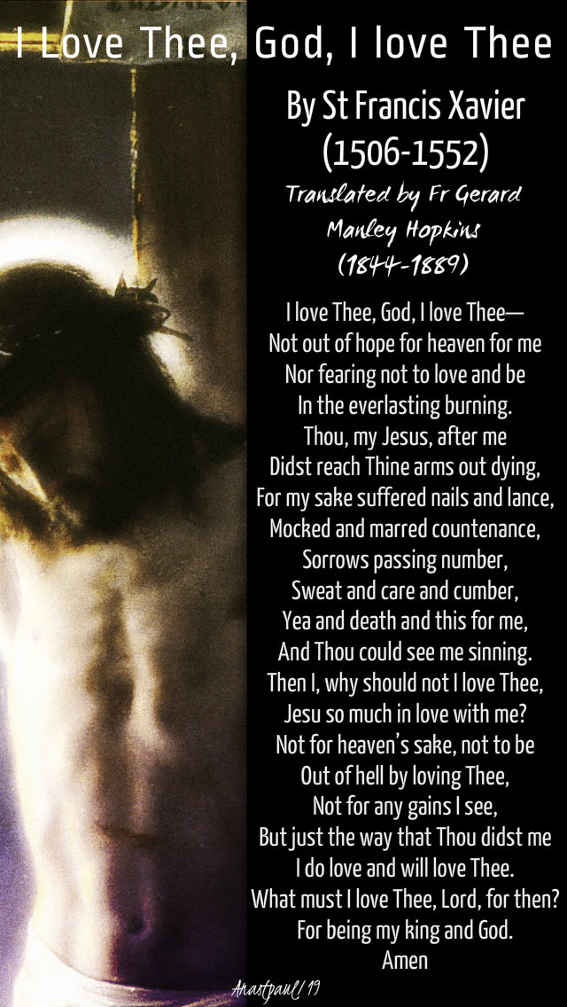 o love thee god i love thee - st francis xavier - 3 dec 2019.jpg