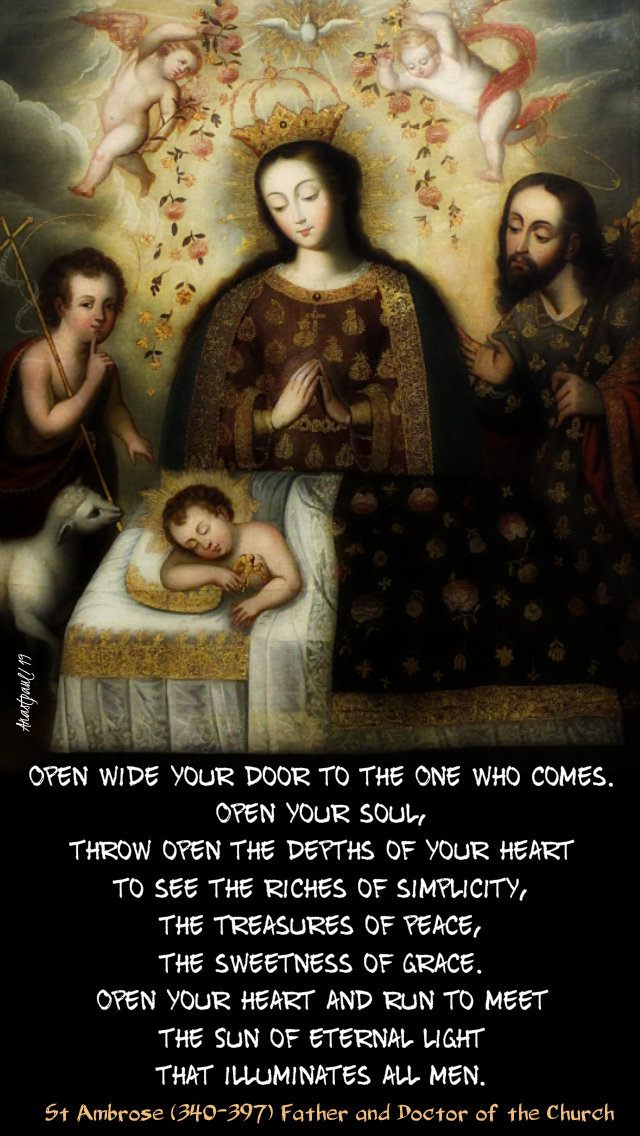 open wide your door to the one who comes - st ambrose 15 dec 2019.jpg