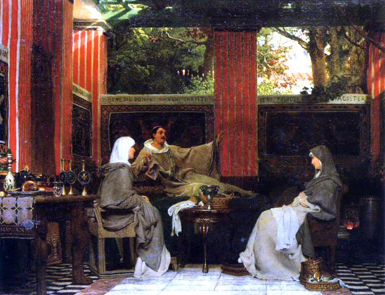 ST venantius fortunatus AlmaTadema-VenantiusFortunatus.jpg