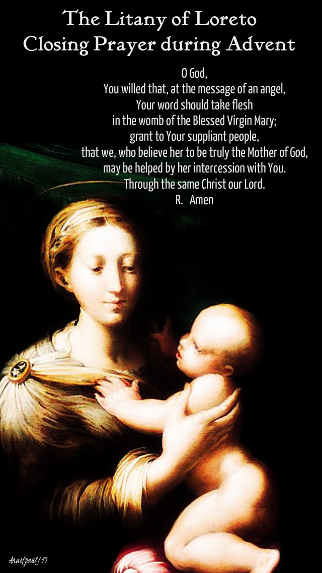 the litany of loreto closing prayer during advent - 10 dec 2019.jpg