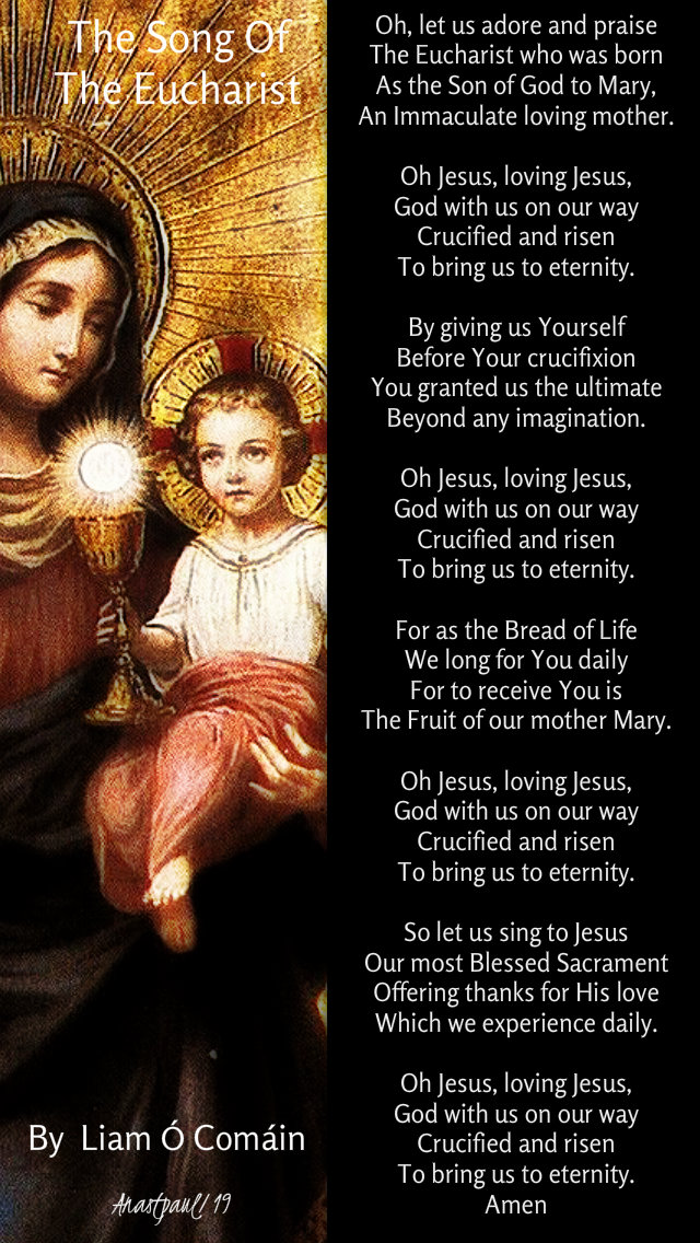the song of the eucharist by liam o comain o let us adore and praise - 29 dec 2019 feast of the holy family.jpg