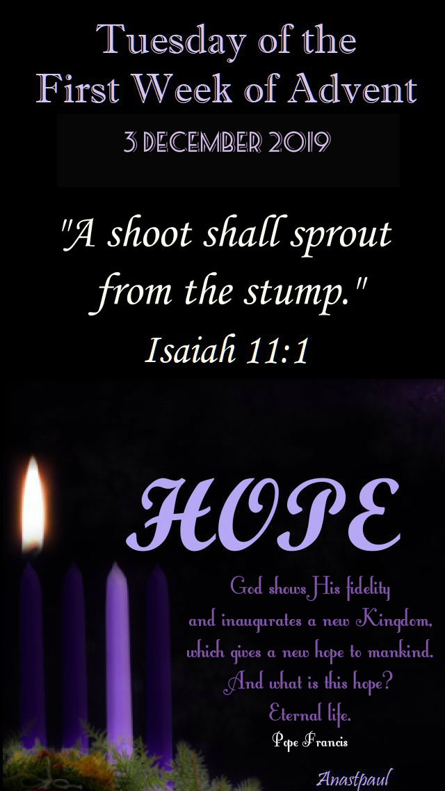 Tuesday of the first week of advent - 3 dec 2019.jpg
