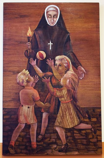 bl marie anne blondin with children.jpeg