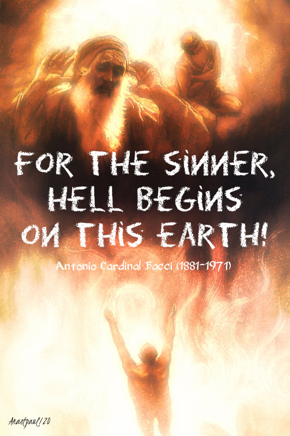 for the sinner hell begins on this earth - bacci 4 jan 2020