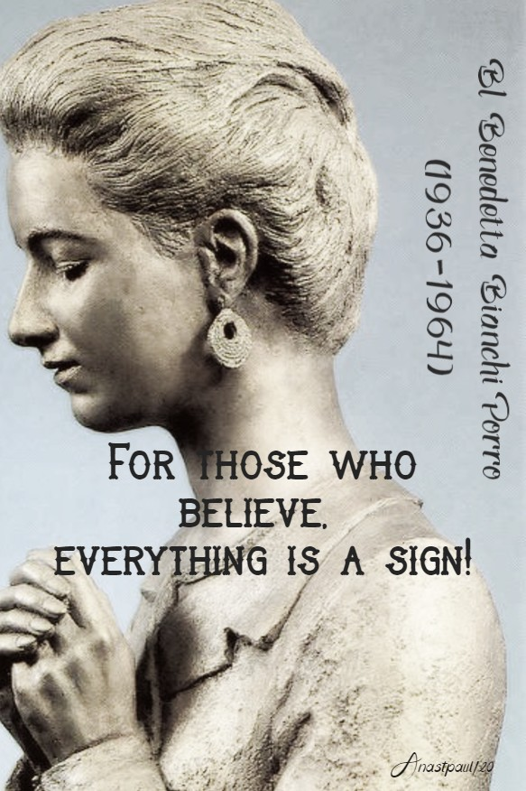 for those who believe everything is a sign bl benedetta porro 23 jan 2020