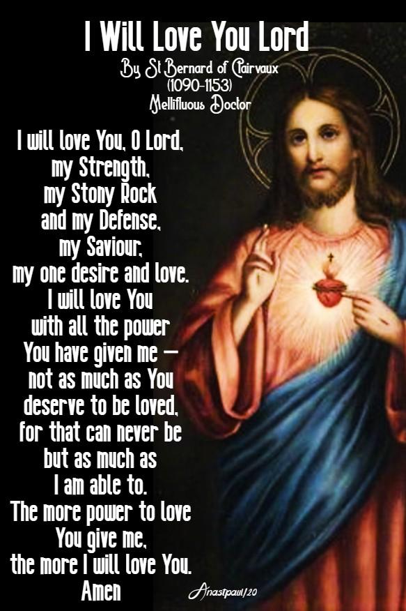 i will love you lord - st bernard - 1 feb 2020