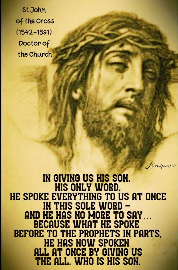 in giving us his son - sun of the word of god - his only word - snip 26 jan 2020