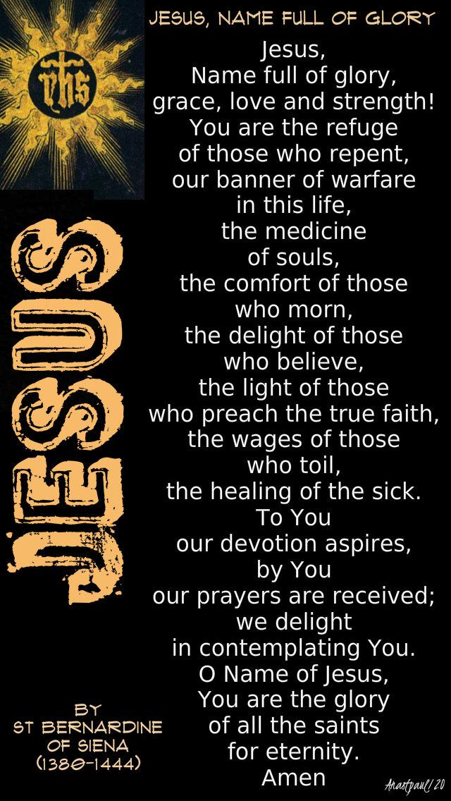 jesus name full of glory by st bernardine of siena - 11 jan 2020.jpg