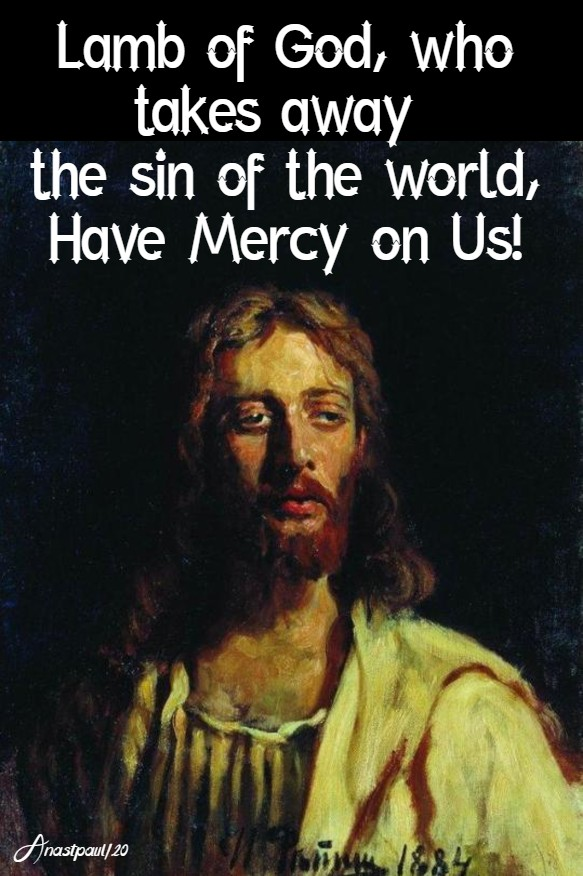 lamb of god who takes away the sin of the world have mercy on us 19 jan 2020