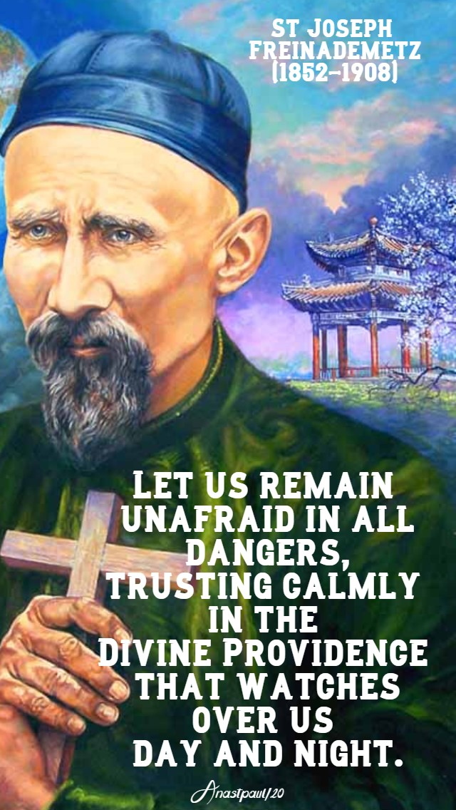 let us remain unafraid - st joseph freinademetz 28 jan 2020