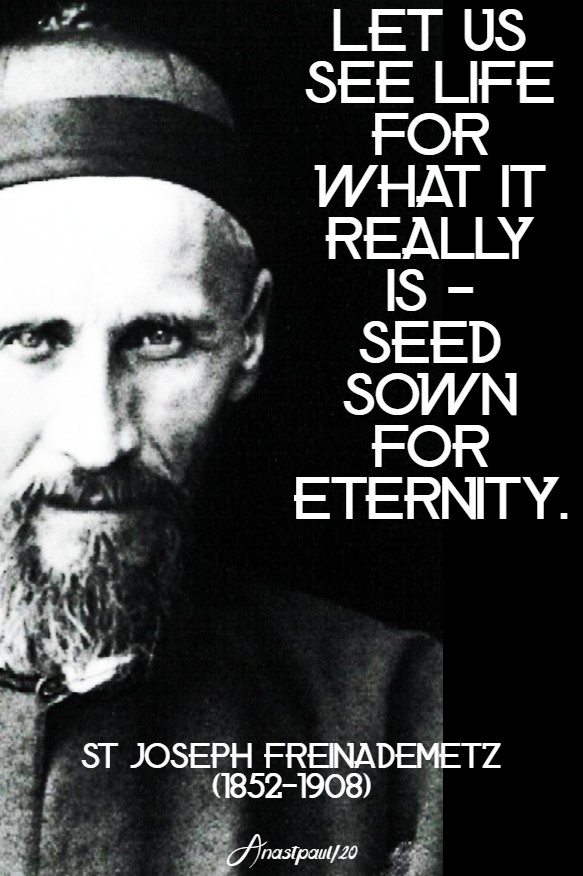 let us see life for what it really is seed sown for eternity st joseph freinademetz 28 jan 2020