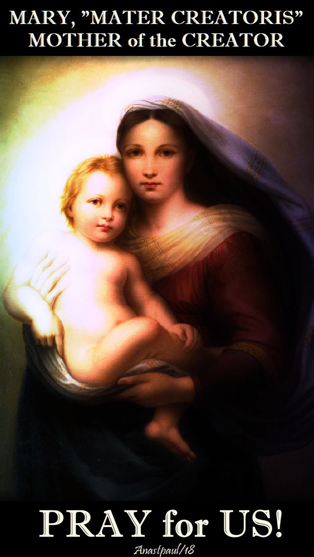 mary-mater-creatoris-mother-of-the-creator-pray-for-us-14-may-2018, 29 jan 209 and 28 jan 2020