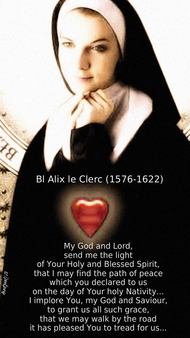 my god and lord send me the light of your holy and blessed spirit - bl alix le clerc 9 jan 2020.jpg