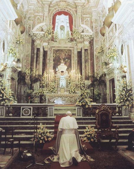papa-giovanni-paolo-ii-santo-beato-santa-eustochia-calafato-smeralda-messina-1988-canonizzazione-chiesa-barocca-terremoto