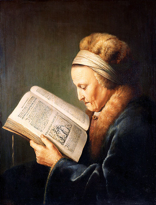 rembrandt's mother reading bible - sun of the word of god 26 jan 2020