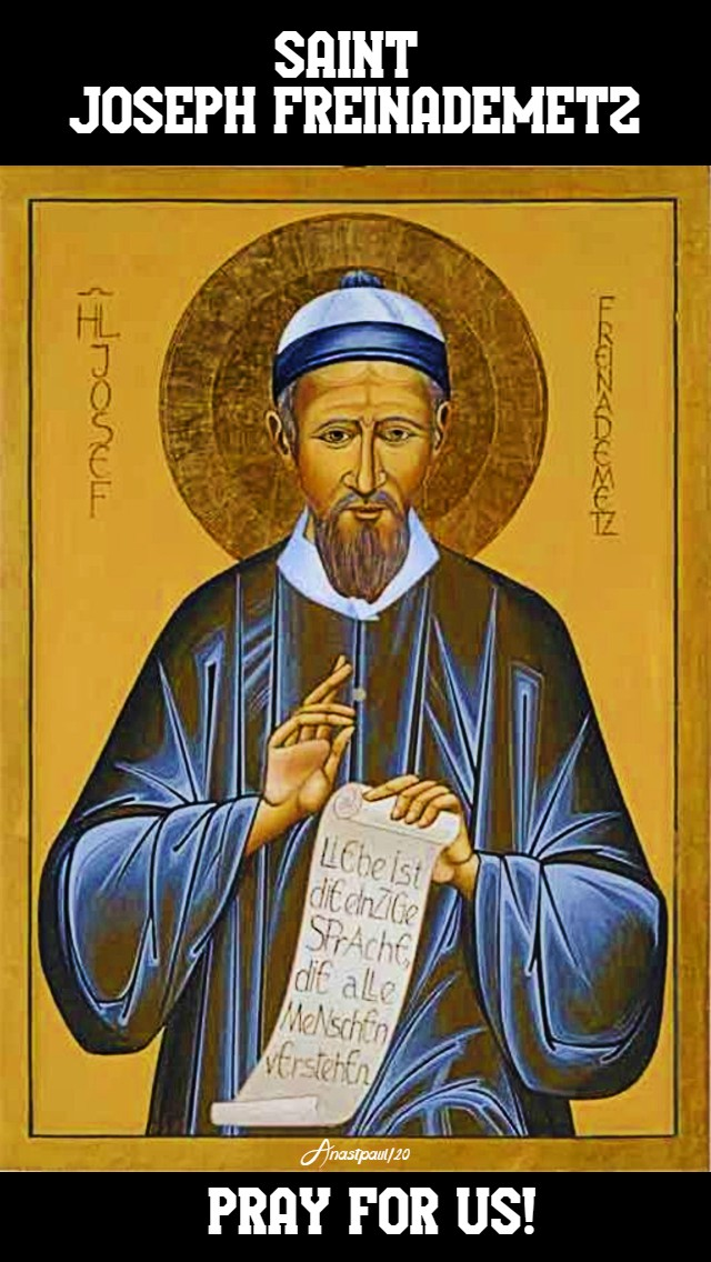 ST JOSEPH FREINADEMETZ PRAY FOR US NO 2 28 JAN 2020