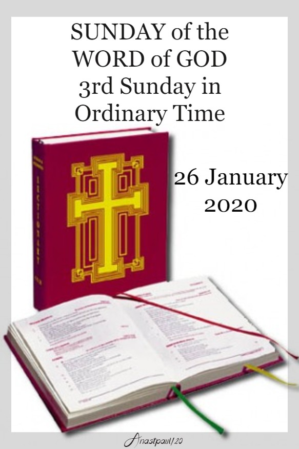 SUNDAY OF THE WORD OF GOD 26 JAN 2020