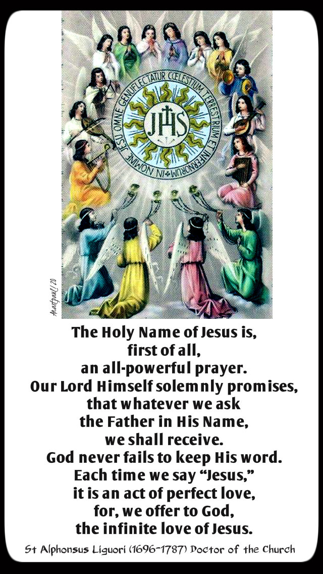 the holy name of jesus is first of all an all powerful prayer - st alphonsus liguori 3 jan 2020.jpg