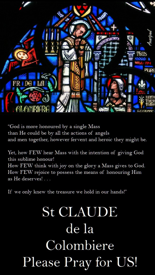 god-is-more-honoured-by-a-single-mass-st-claude-15-feb-2017 and sun reflection 16 feb 2020