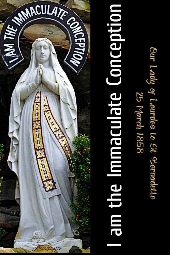 i am the immaculate conception our lady of lourdes 11 feb 2020