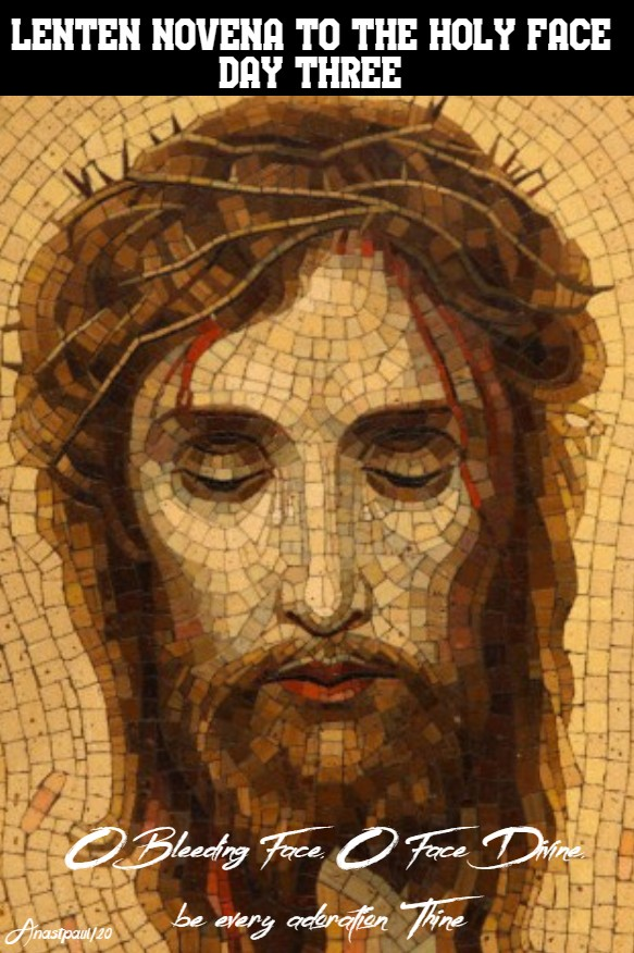 LENTEN NOVENA TO THE HOLY FACE DAY THREE - 19 FEB 2020