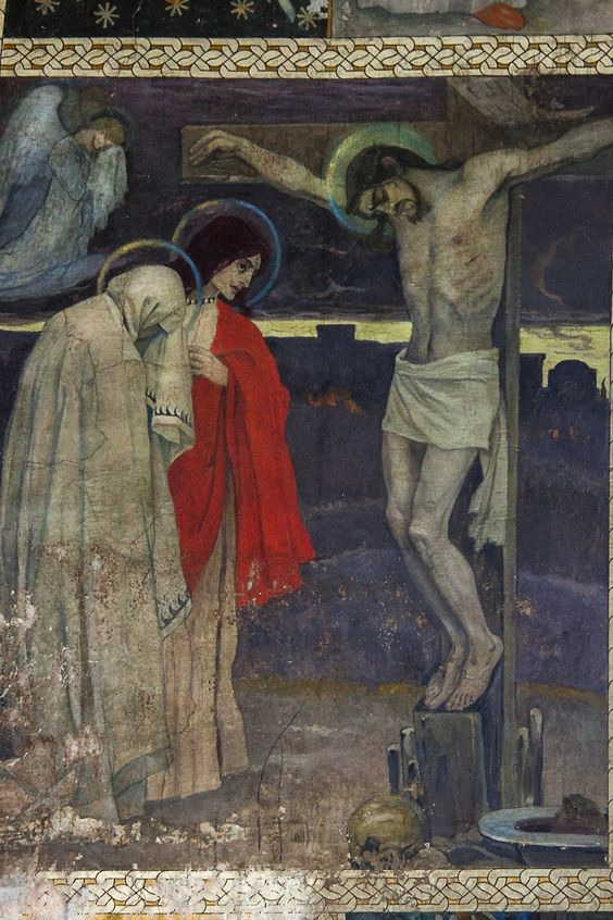 mary and st john at the cross crucifixion