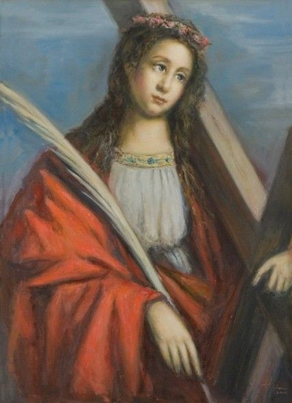 st eulalia with cross