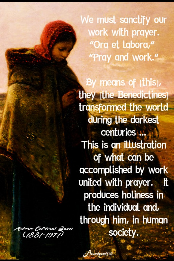 we must sanctify our work with prayer - bacci 4 feb 2020