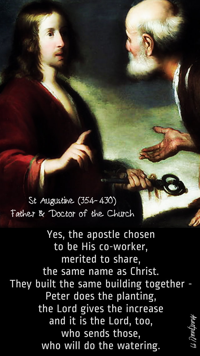 yes-the-apostle-chosen-to-be-his-co-worker-st-augustine-22-feb-2019 and 2020