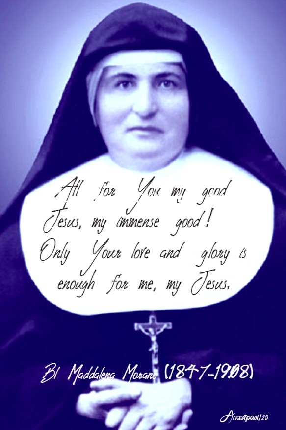 all for you my good jesus - bl maddalena morano 26 march 2020