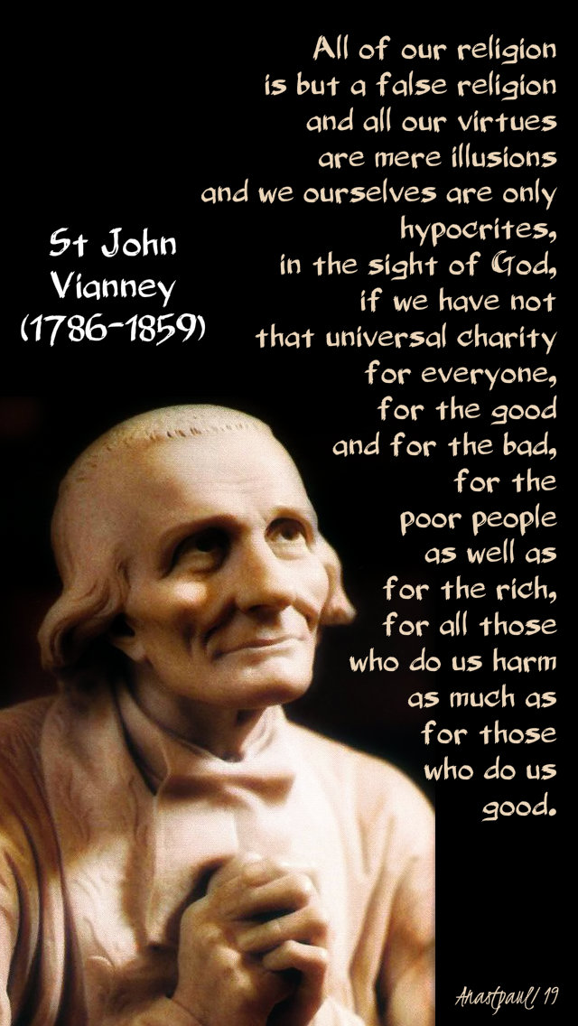 all of our religion is but a false - st john vianney thurs2ndweeklent 21 march 2019