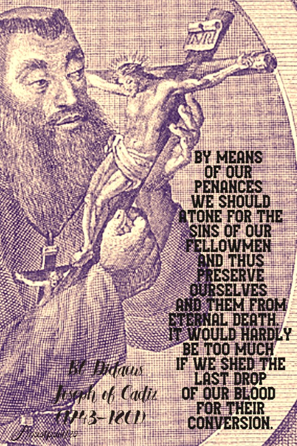 by means of our penances bl didacus joseph 24 march 2020