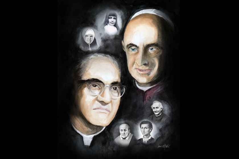 """Holiness wears many faces"" oct 14 canonisations st paul vi st oscar romero st francesco spinelli st nunzio sulprizio st theresa maria st vincenzo romano"