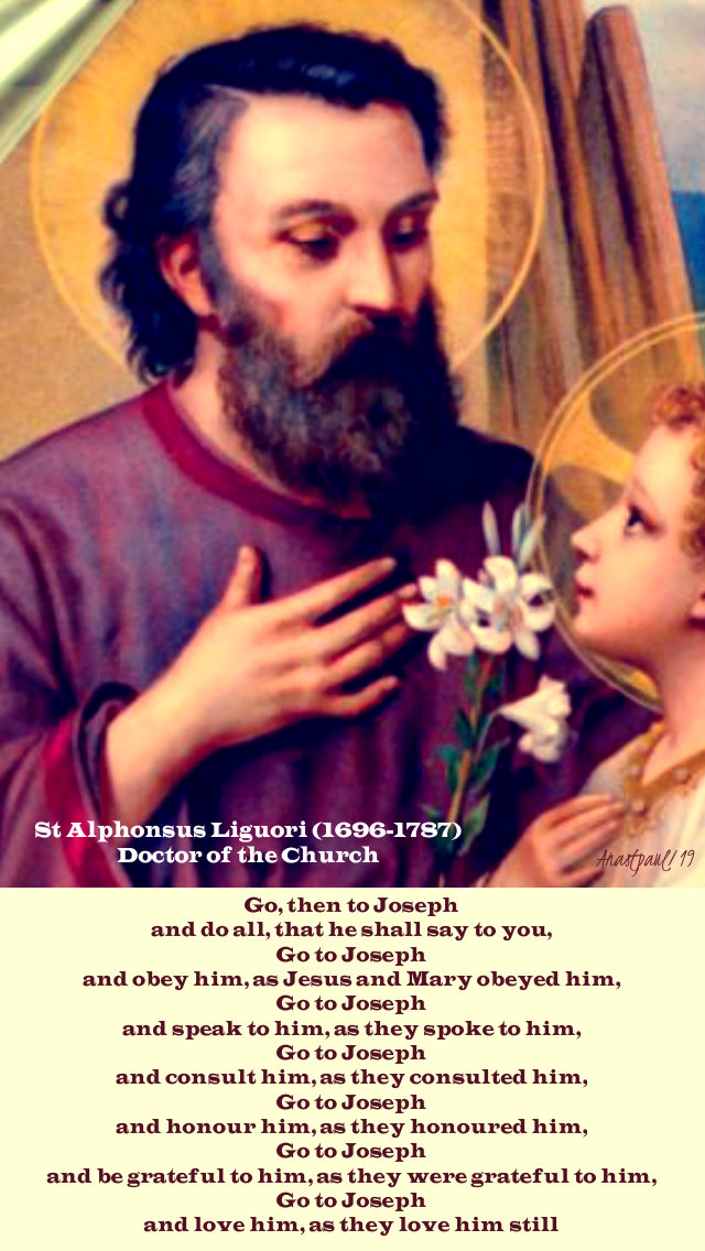 go then to joseph - st alphonsus liguori - 19 march 2019