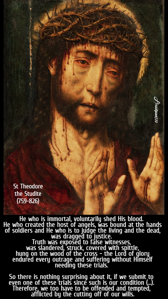 he who is immortal voluntarily - st theodore the studite 11 march 2020