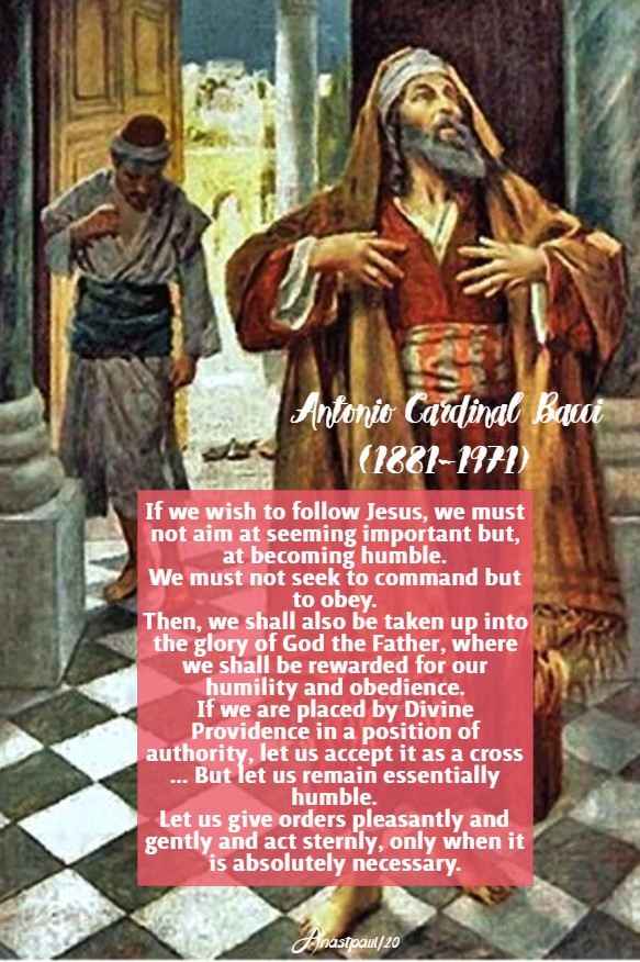 if we wish to follow Jesus - bacci - 9 march 2020