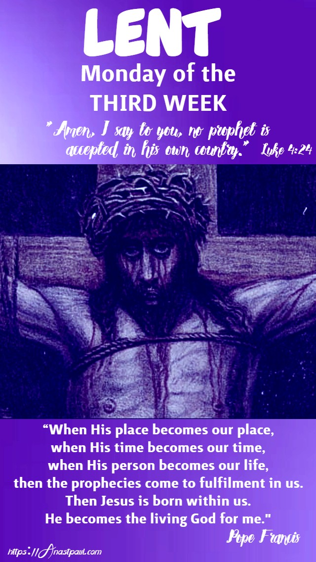 lent monday of the third week 14 march 2020