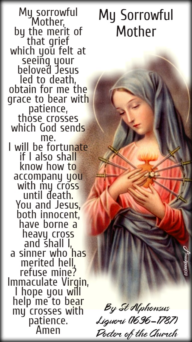 my sorrowful mother - st alphonsus liguori 28 march 2020