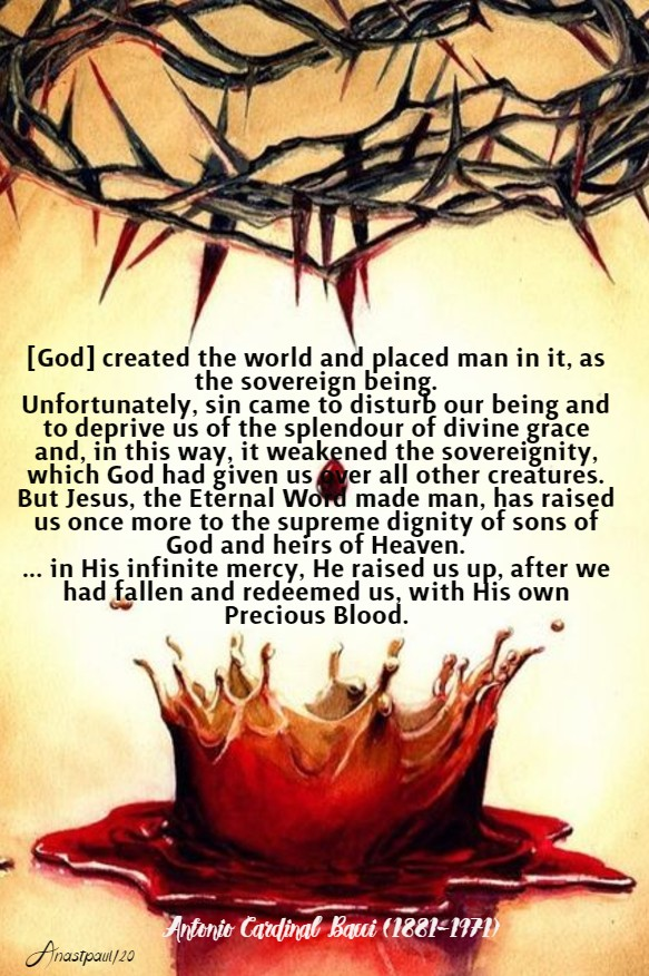 redeemed us by his precious blood - bacci 26 march 2020