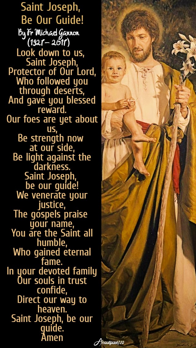 st joseph be our guide by fr michael gannon 19 march 2020