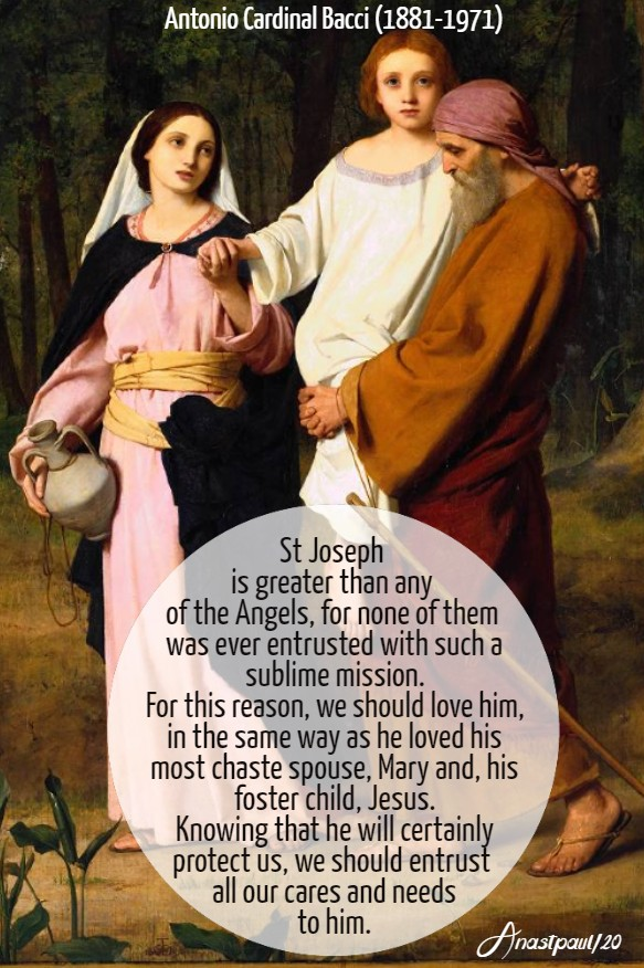 st joseph is greater than any of the angels - bacci 19 march 2020