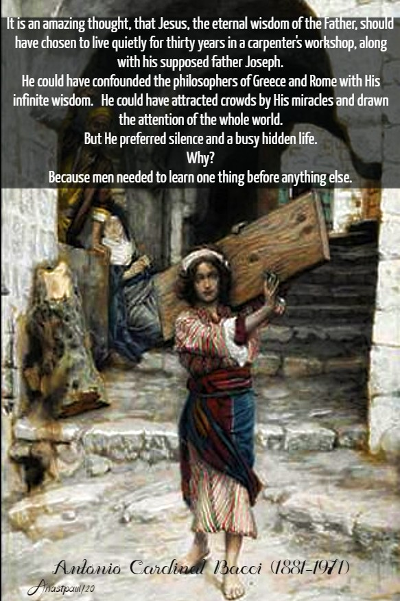 the hideen life of jesus - bacci 10 march 2020