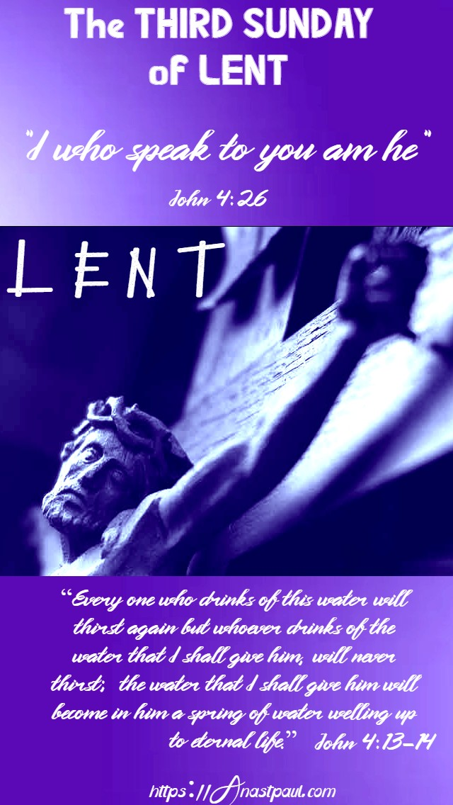 the third sunday of lent 15 march 2020